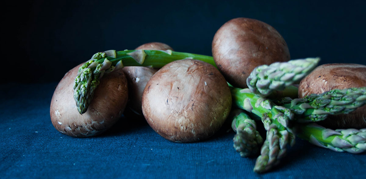 Mushrooms and asparagus join forces with tarragon in this creamy comfort food