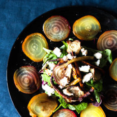 A fresh, delicious salad recipe with beetroot and roasted carrots