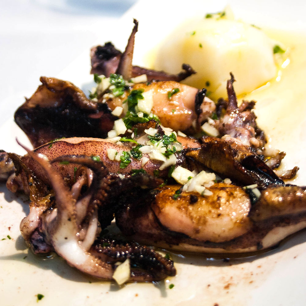 Grilled Squid, or Chiperones as they're known in Vigo, Spain.