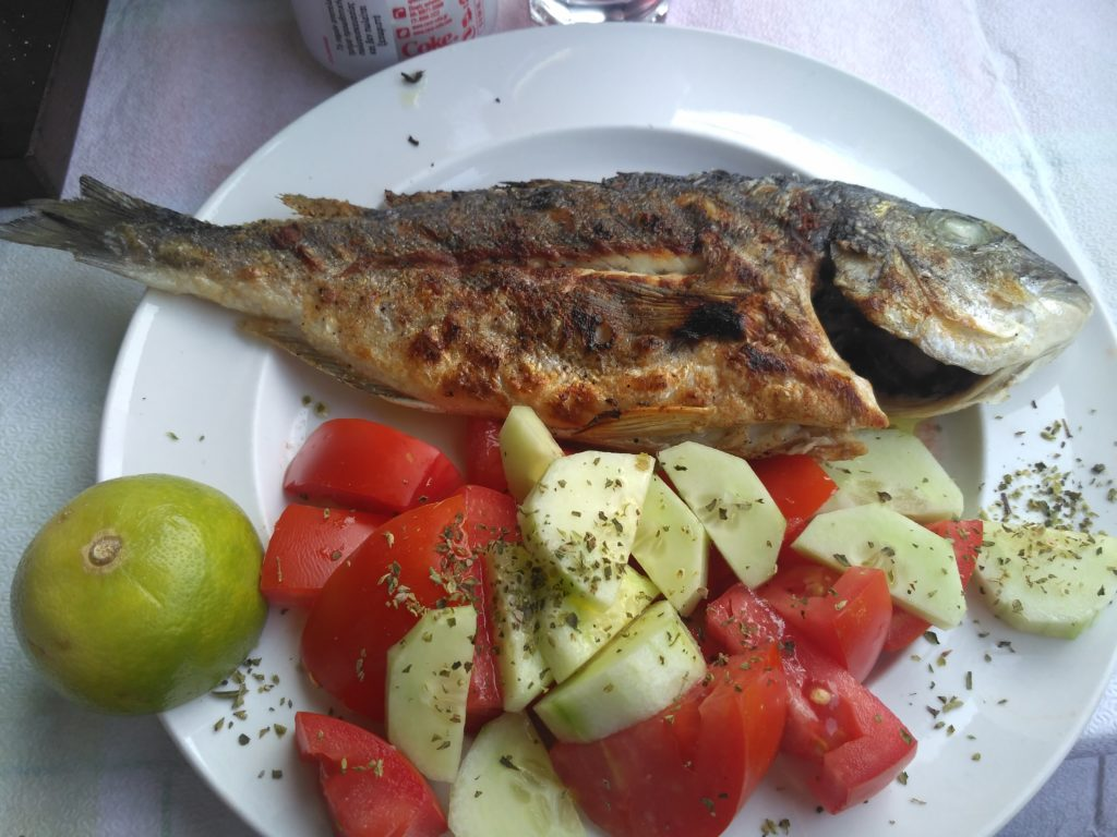 Grilled Sea Bream in Athens, Greece